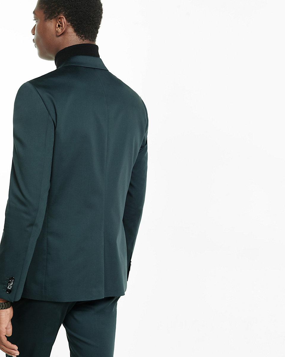 Express Cotton Slim Photographer Suit Jacket in Green for Men