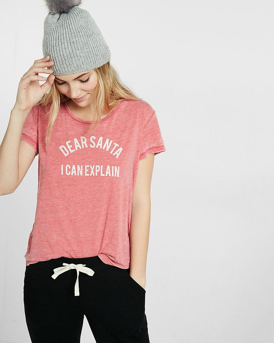 860ebe321 Express Dear Santa I Can Explain Boxy Tee in Red - Lyst