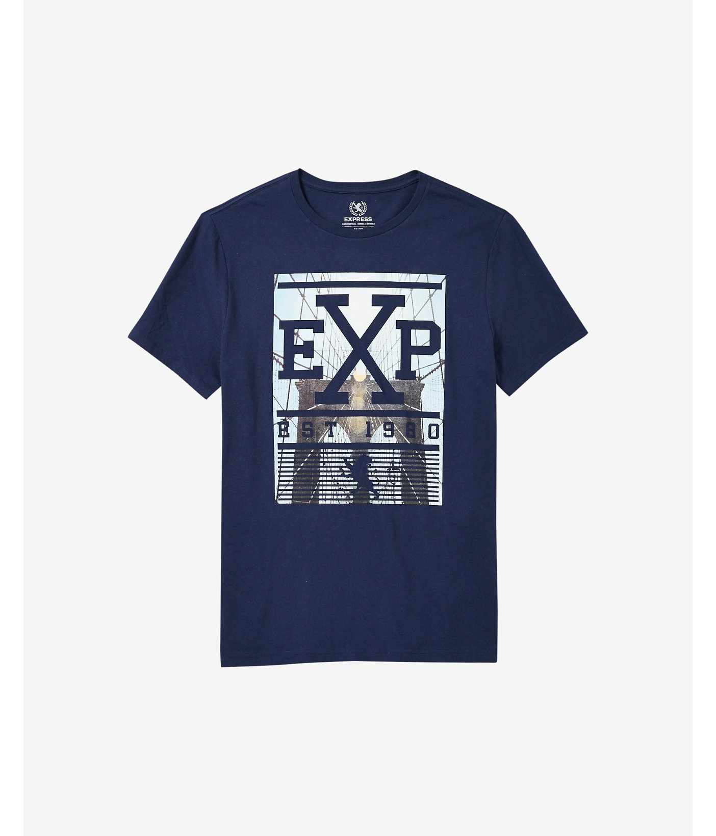 Express Navy Exp Bridge Graphic T Shirt In Blue For Men Lyst
