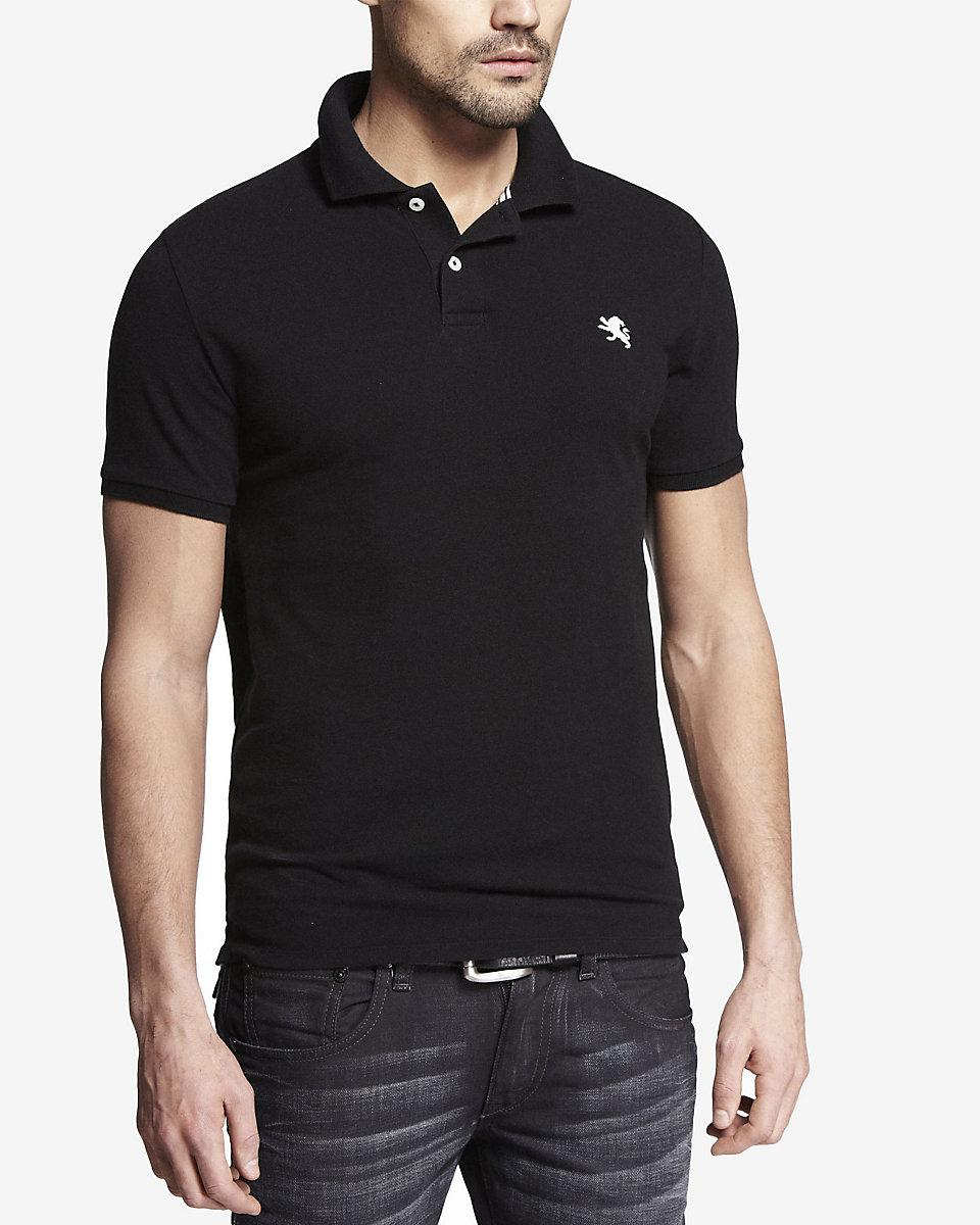 Lyst Express Small Lion Pique Polo In Black For Men