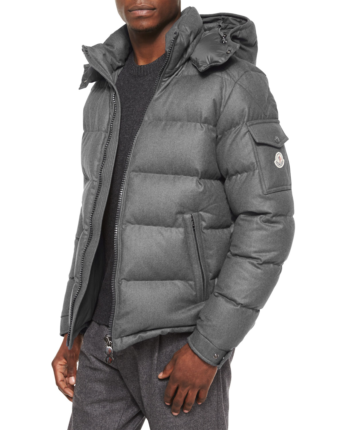 Moncler Montgenevre Quilted Down Jacket In Gray For Men Lyst