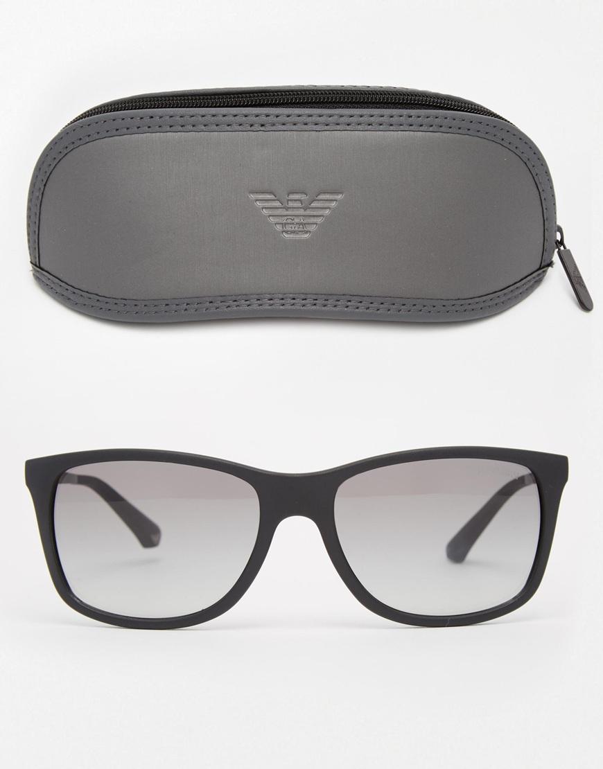 50179c91c274 Lyst - Emporio Armani Wayfarer Sunglasses in Black for Men