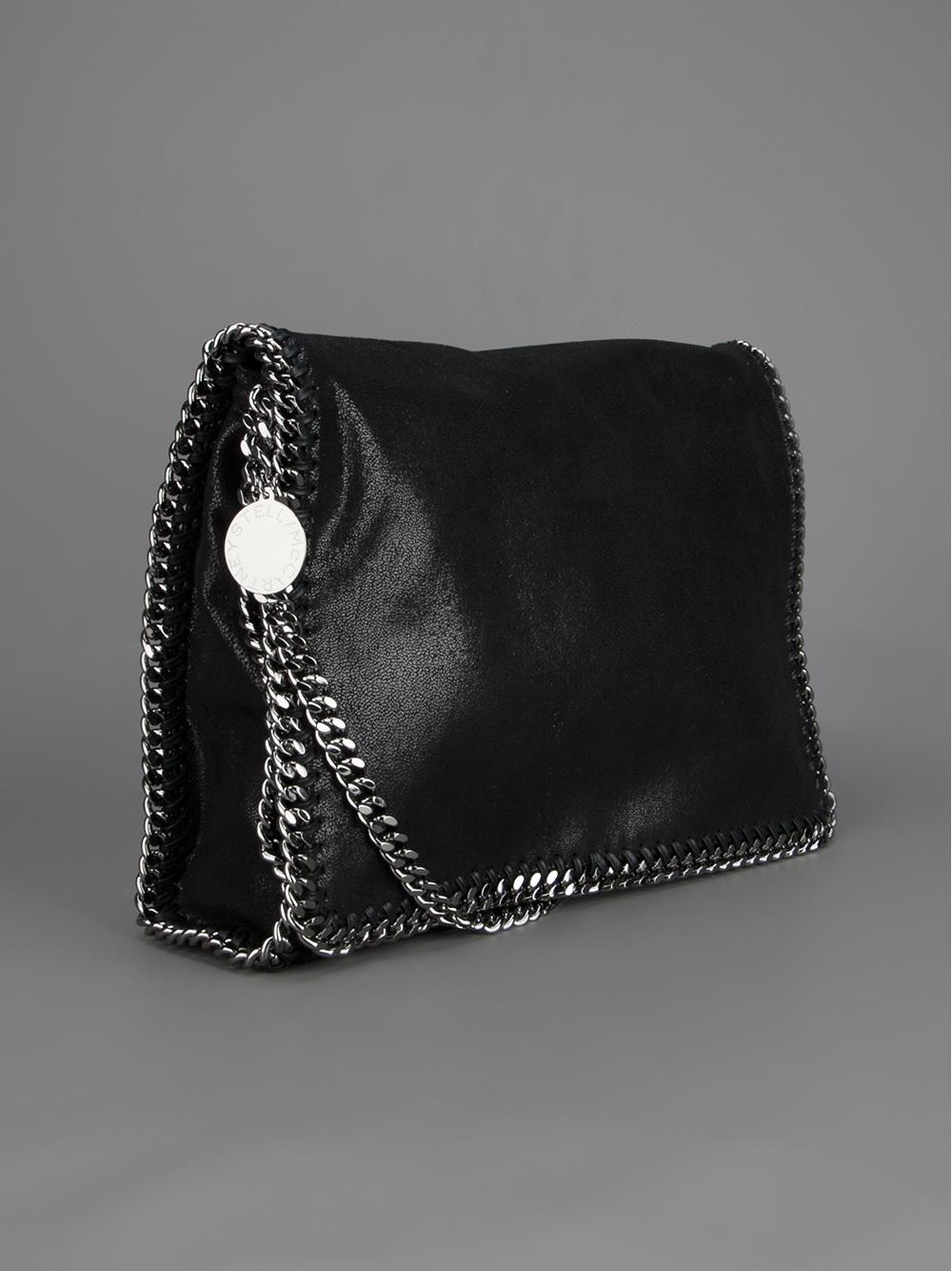 0c08dee985128 Stella McCartney 'Falabella' Shoulder Bag in Black - Lyst