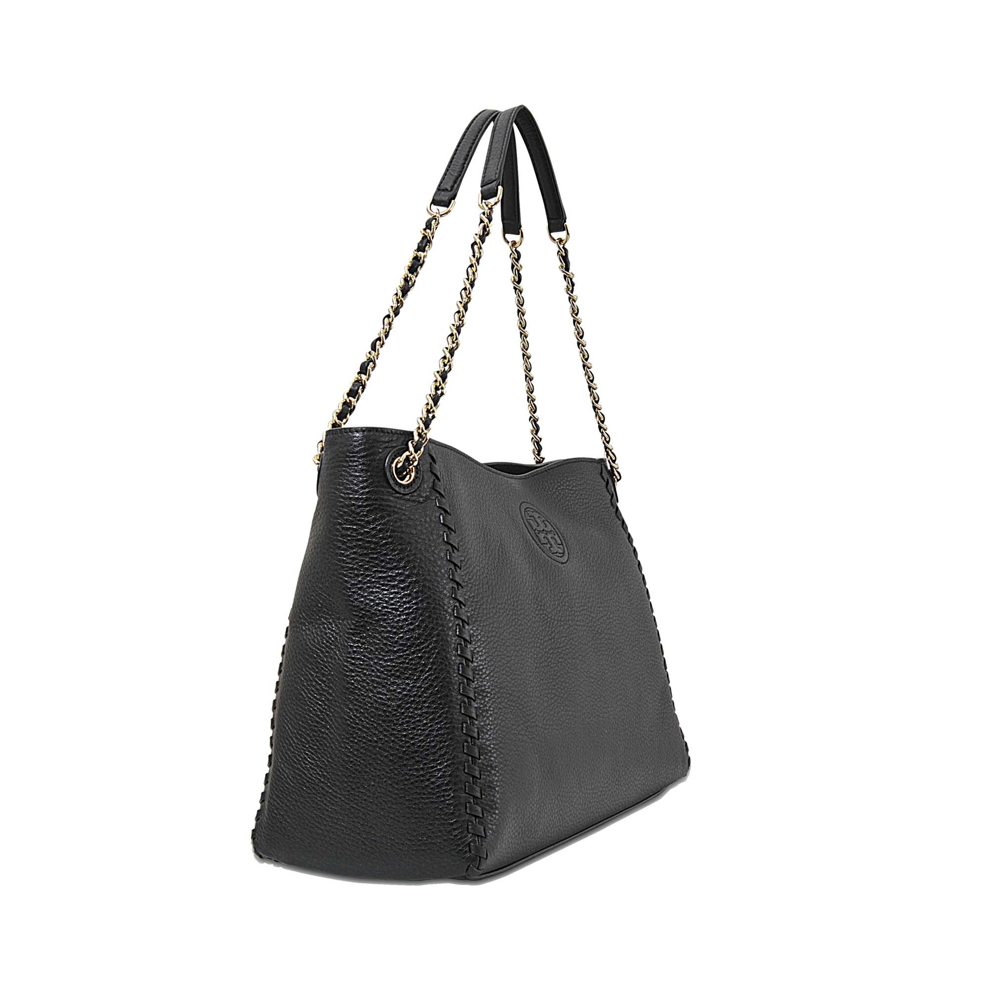 2349d155f2a5 Lyst - Tory Burch Marion Chain-shoulder Slouchy Tote in Black