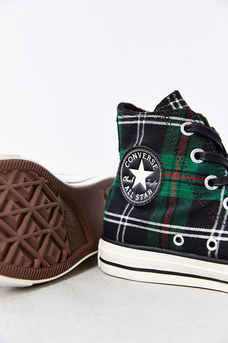 Converse Chuck Taylor All Star Green Tartan High Top Women