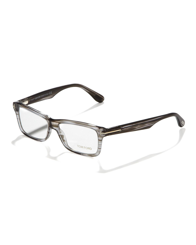 671218e0fb3 Lyst - Tom Ford Unisex Soft Rectangular Fashion Glasses in Gray