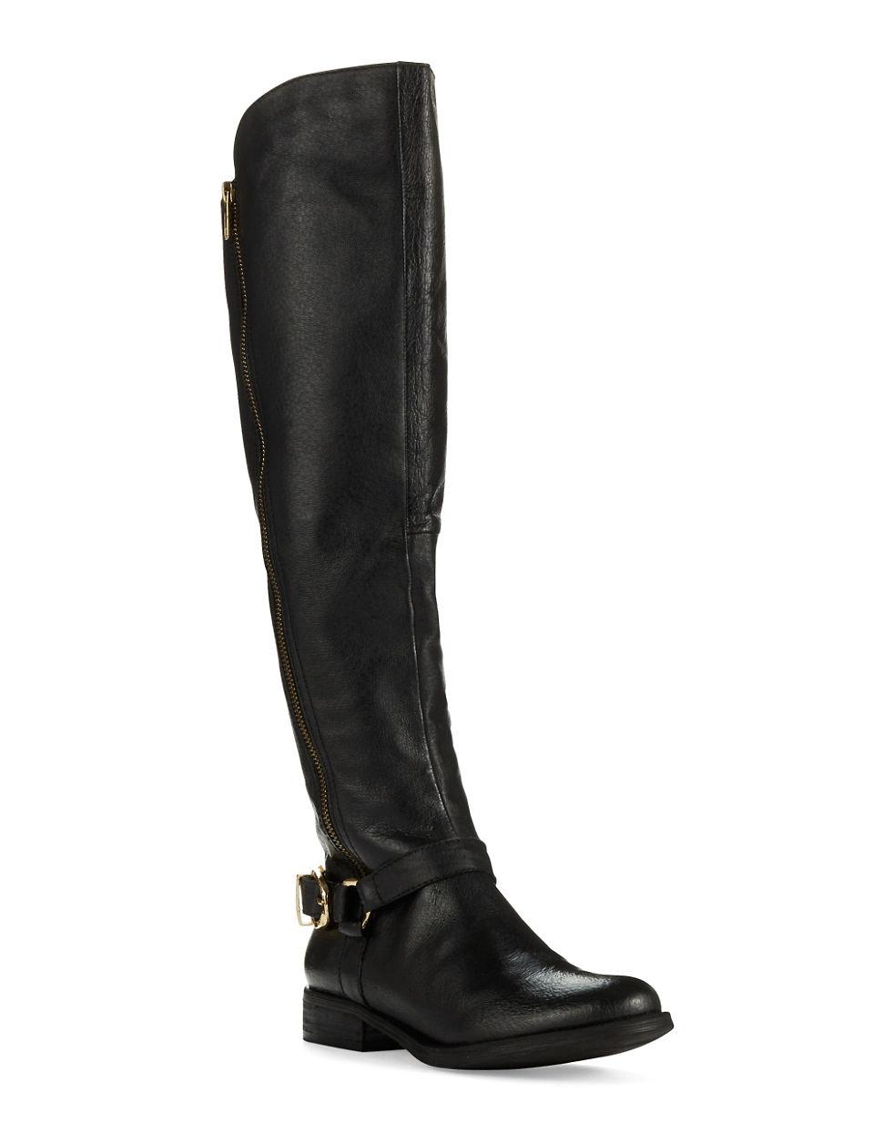 Steve Madden Black Riding Boots Www Imgkid Com The