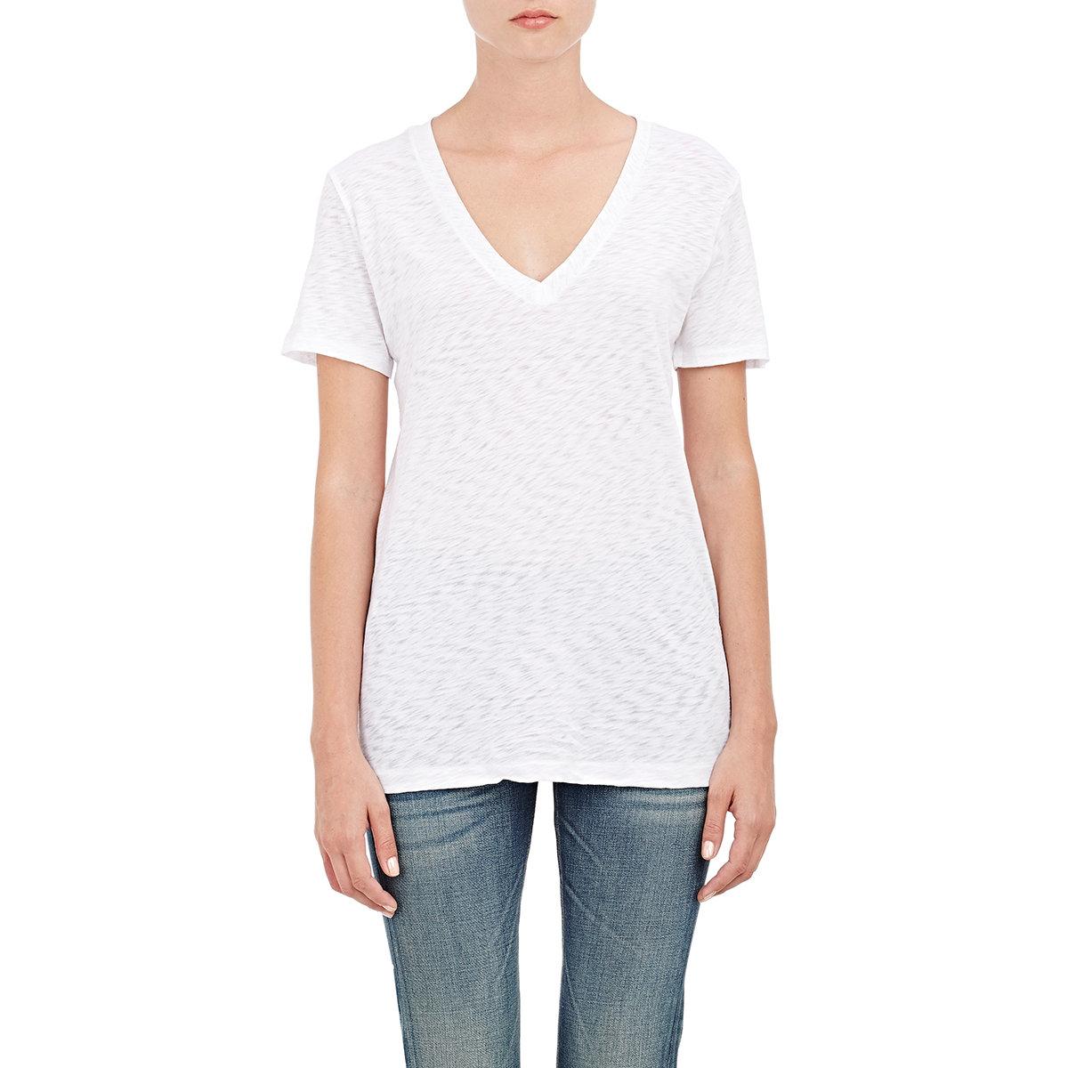 Lyst rag bone women 39 s the classic v t shirt in white for Rag and bone white t shirt