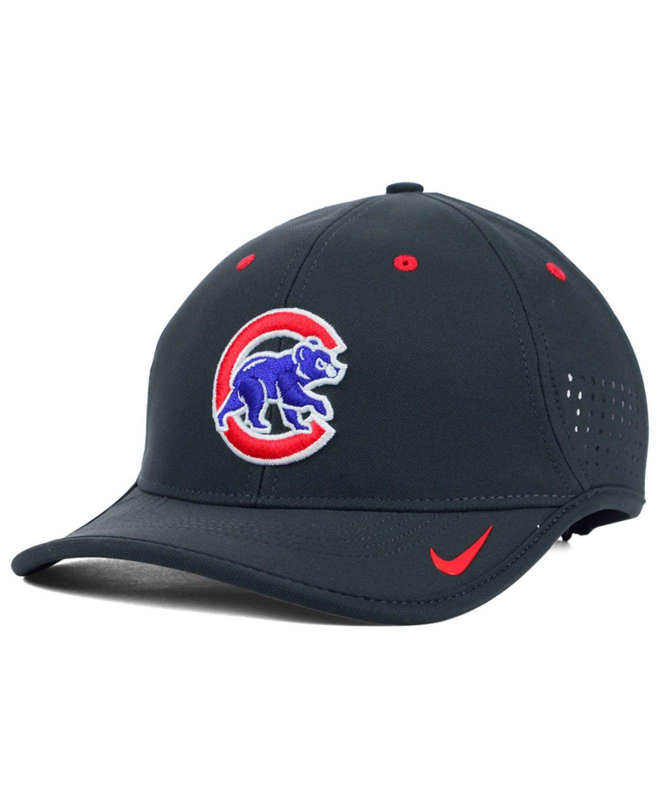 5df7eaab210 Lyst - Nike Chicago Cubs Vapor Swoosh Adjustable Cap in Gray for Men