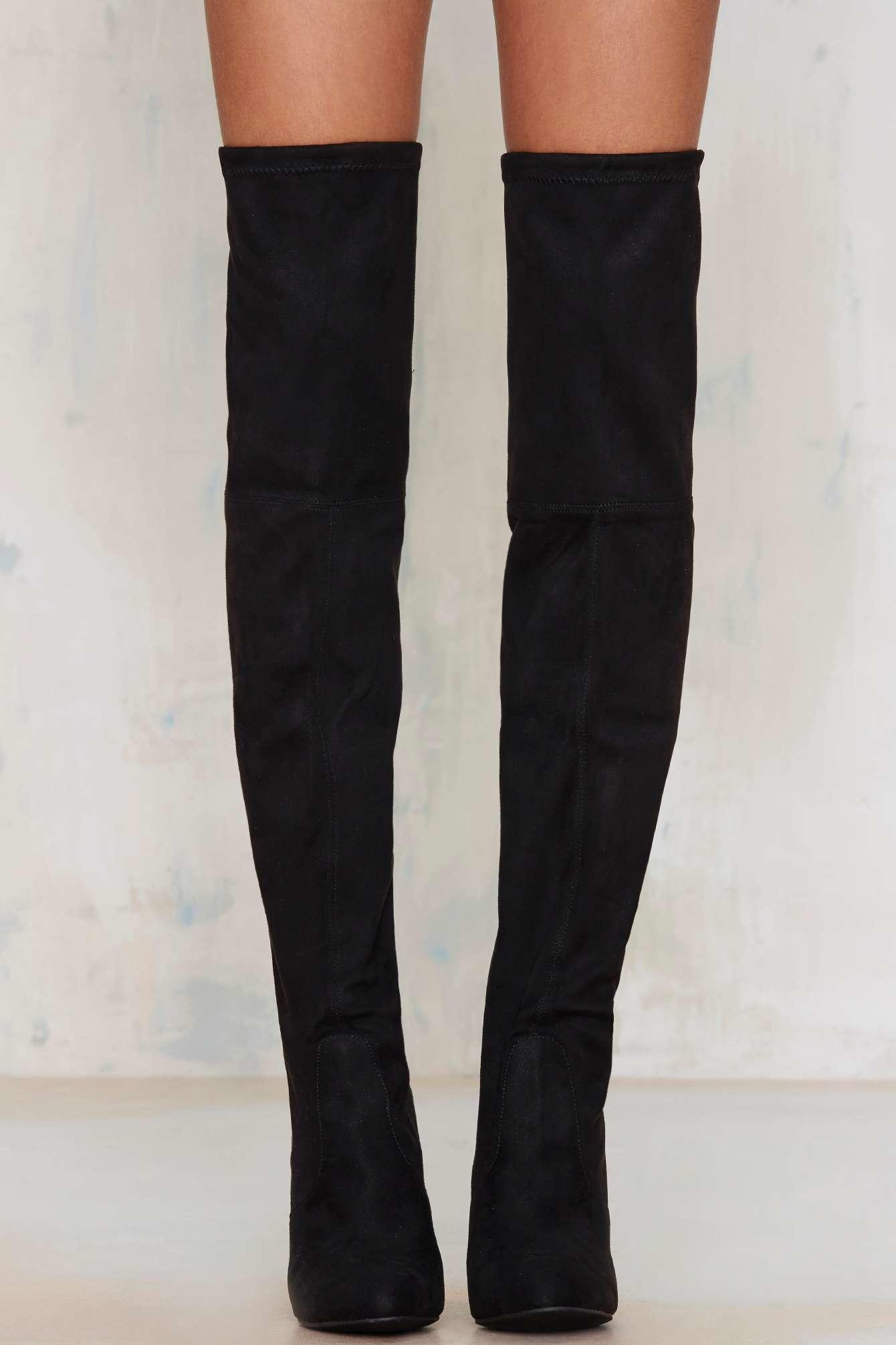 ce99e09661b Steve Madden Black Gorgeous Over-the-knee Boot