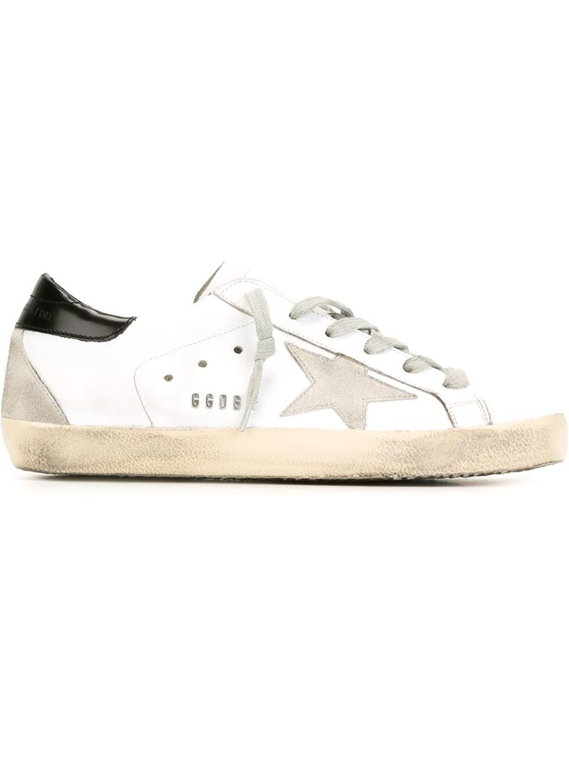 golden goose deluxe brand super star sneakers in white lyst. Black Bedroom Furniture Sets. Home Design Ideas