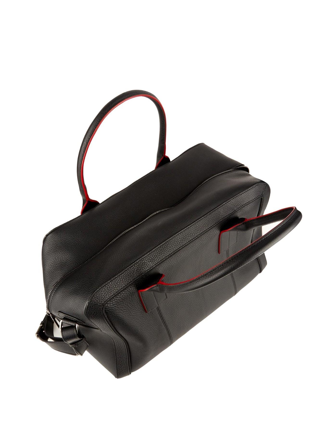 94ae0dcbb75 Christian Louboutin Black Fredo Leather Weekend Bag for men