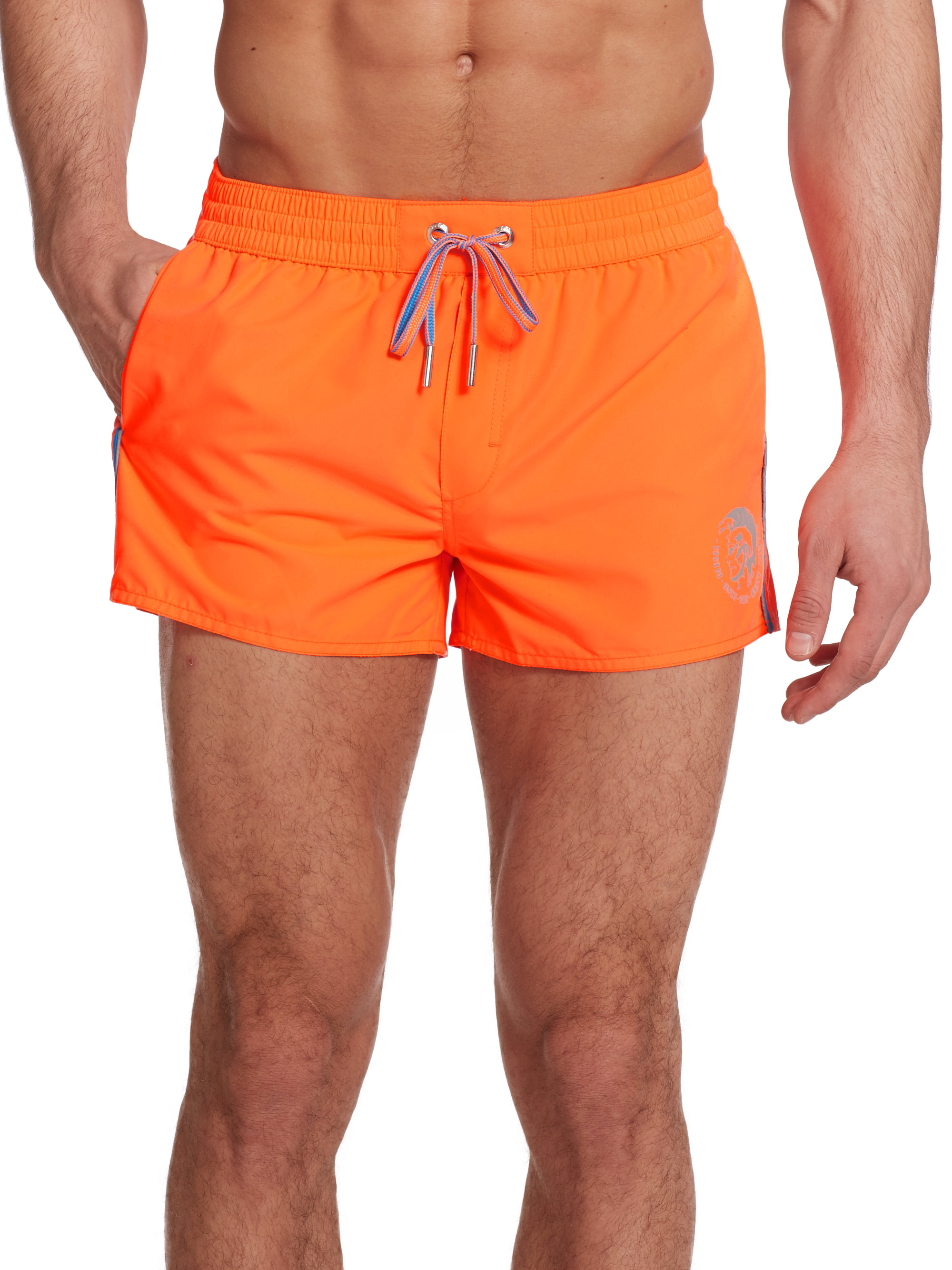 Go Shorter and Slimmer Orlebar Brown I know this isn't what you like to have in mind when referring to the lower part of your anatomy, but when it comes to swim trunks, extra length and girth only earn you negative style points.
