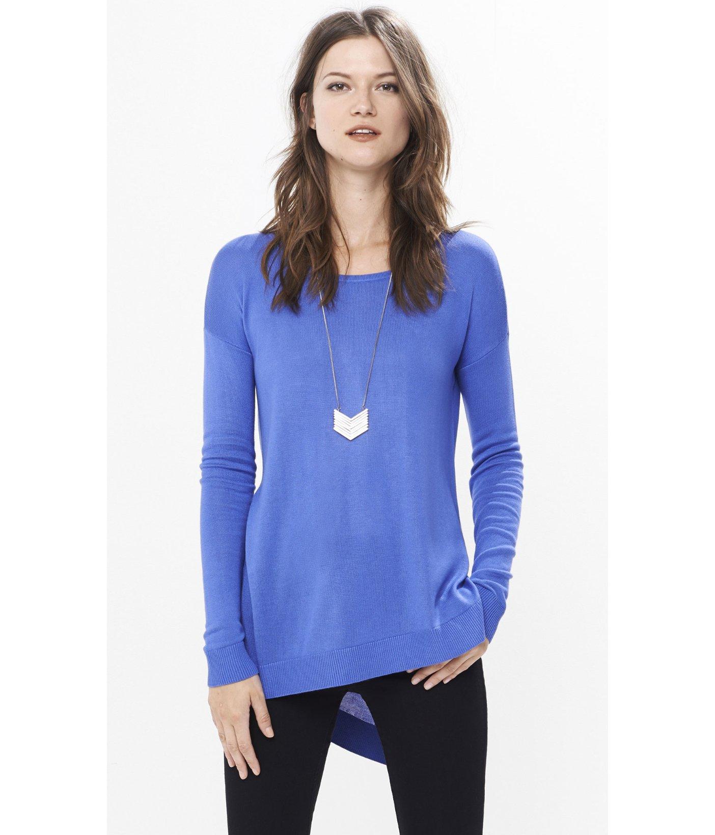 express-ultramarine-asymmetrical-hem-tunic-sweater-product-2 ...