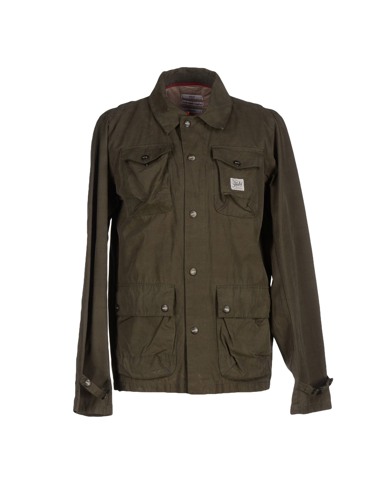 pepe jeans jacket in green for men military green lyst. Black Bedroom Furniture Sets. Home Design Ideas