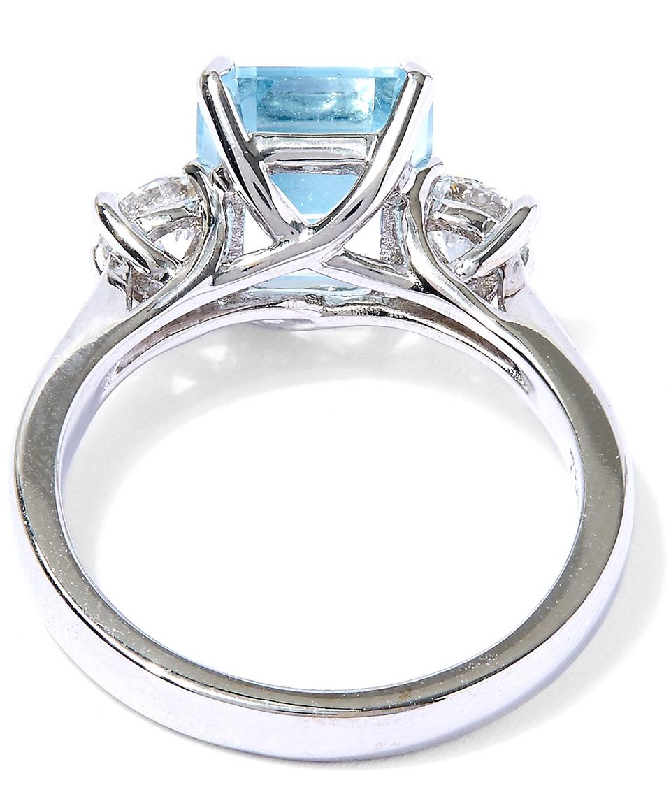 Kojis White Gold Aquamarine Diamond Ring in Blue
