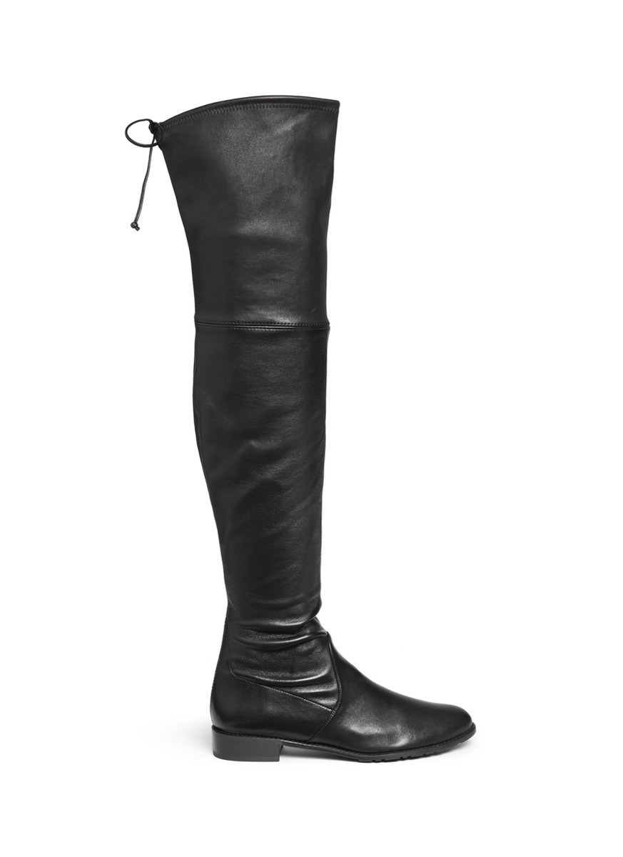 Stuart weitzman 'lowland' Stretch Leather Thigh High Boots in ...