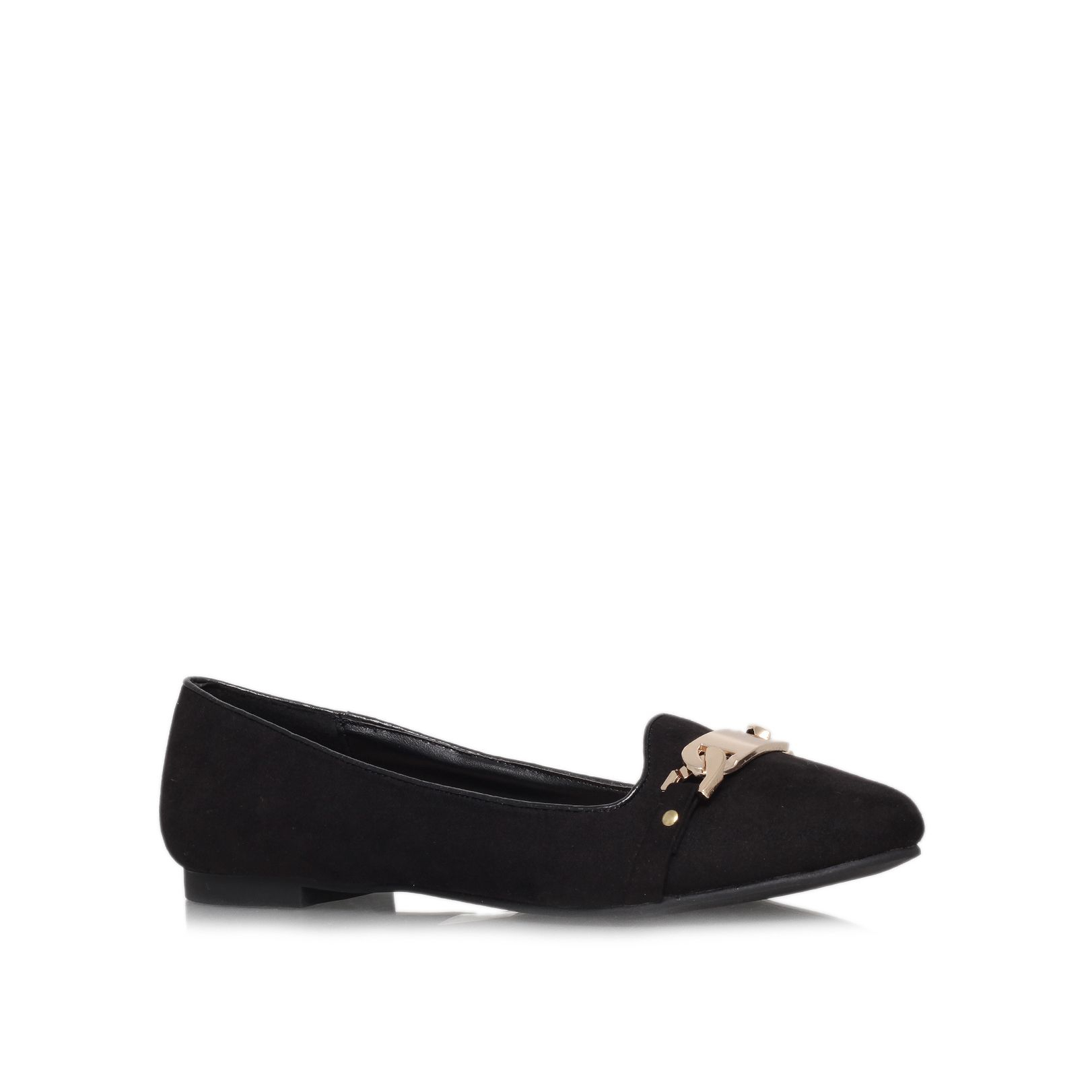 carvela kurt geiger lull flat court shoes in black lyst