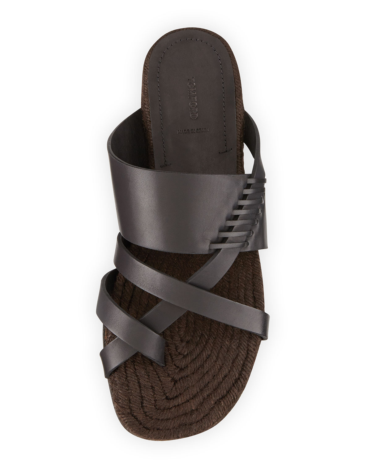 Tom Ford Barnes Strappy Espadrille Sandal In Brown For Men