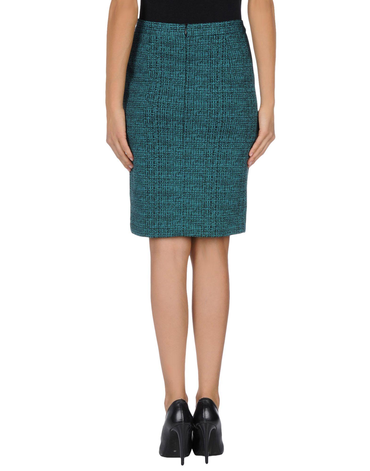 hoss intropia green knee length skirt lyst