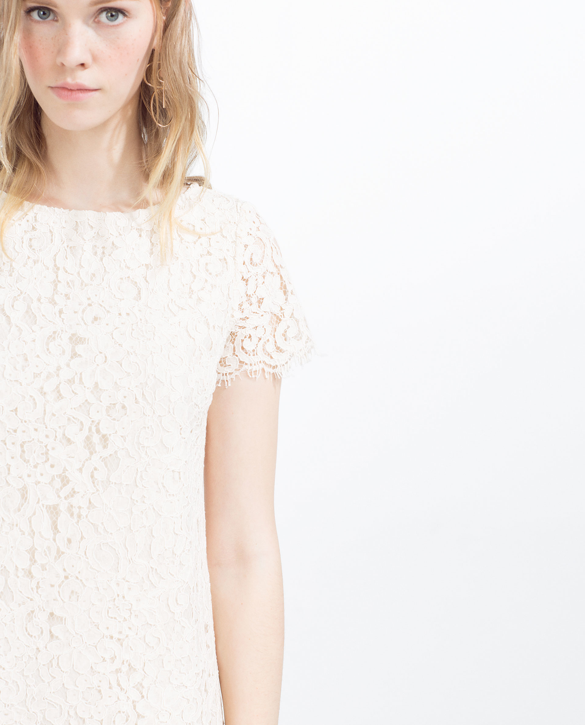 White dress at zara - J Taylor Lace Dress Zara