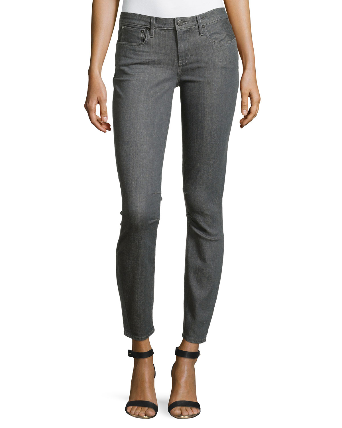 Lyst Helmut Lang Cropped Ankle Pants In Gray