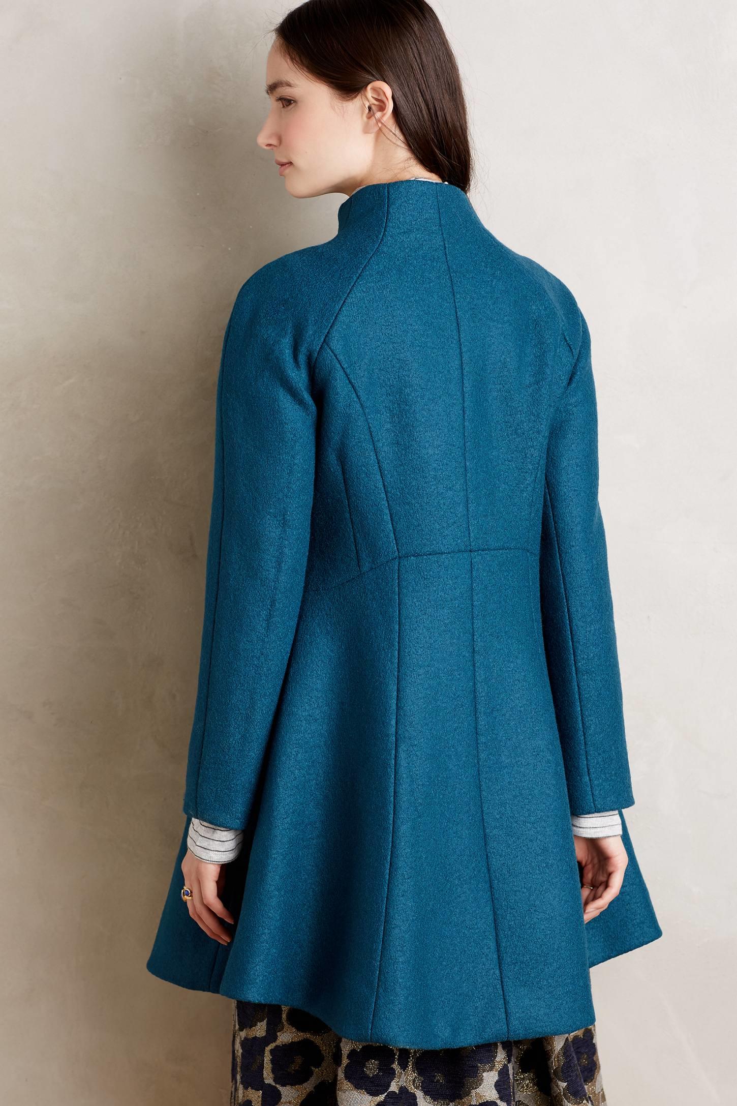 Nanette lepore Jocelyn Wool Coat in Blue | Lyst