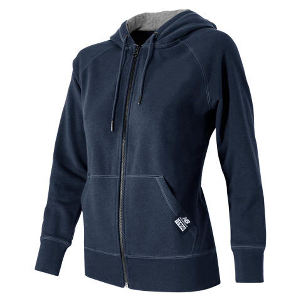 new balance full zip fleece hoodie in blue lyst. Black Bedroom Furniture Sets. Home Design Ideas