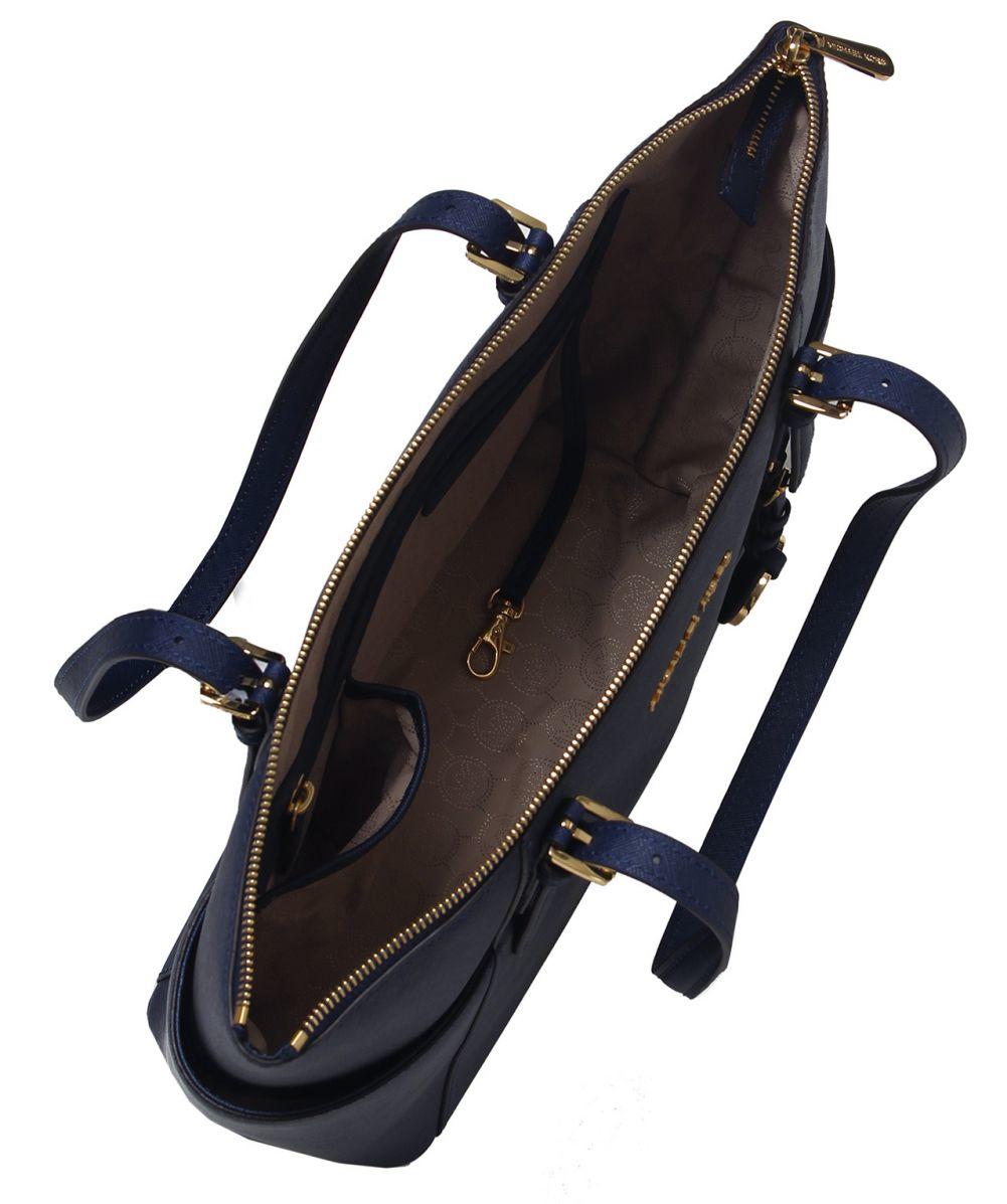 ... australia michael michael kors jet set travel top zip tote bag in blue  lyst 44c34 21cfa 995449b174