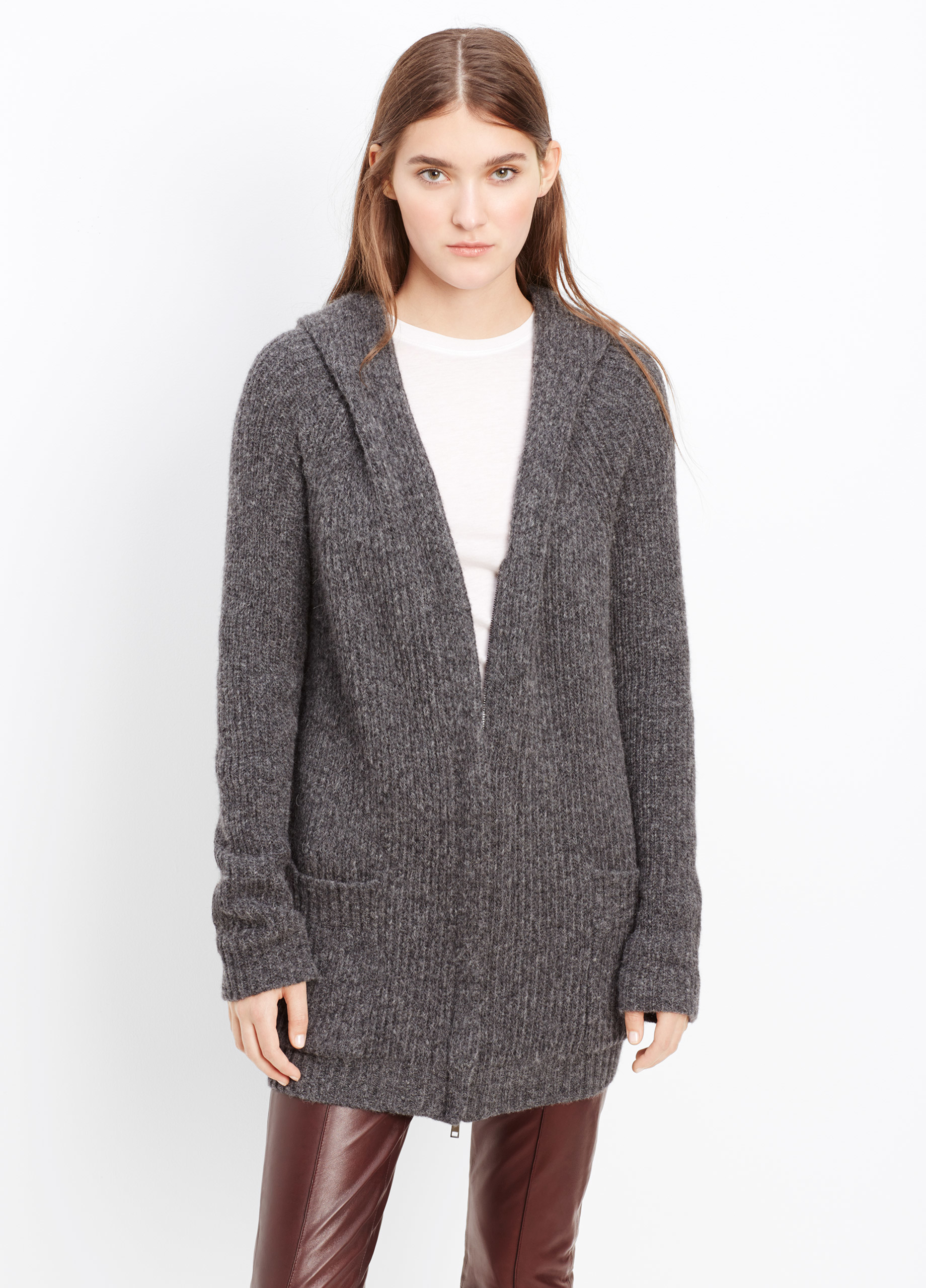 Cashmere Hooded Zip Cardigan 10