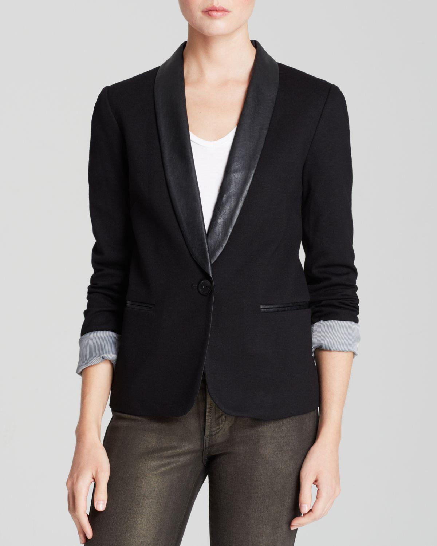 Blazers Combination: James Jeans Ponte Combo Blazer In Black