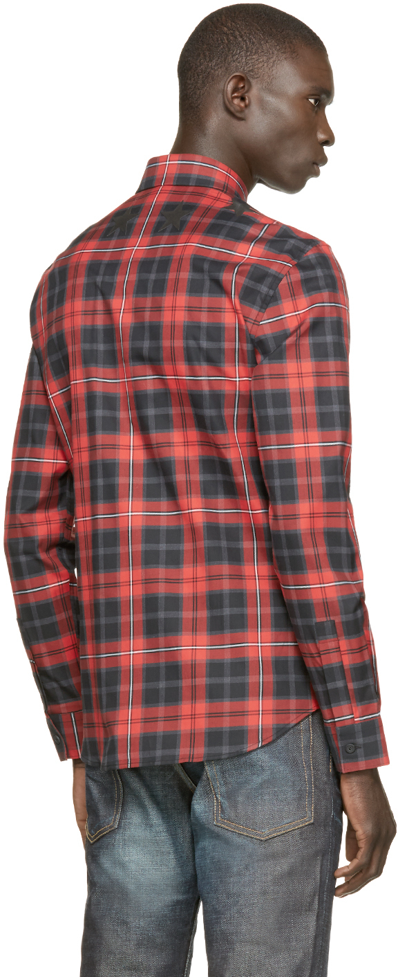 1992d08dcf1e Lyst - Givenchy Red And Black Plaid Shirt in Red for Men
