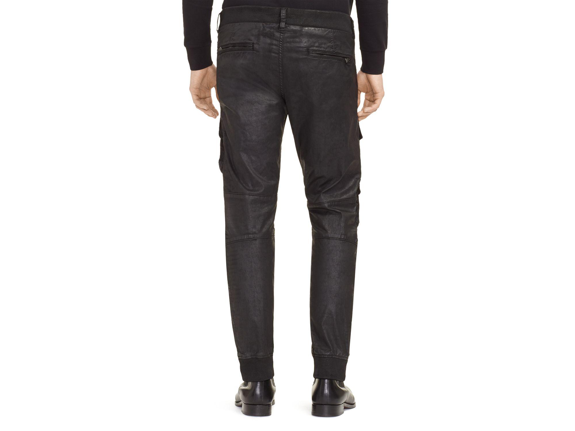 ralph lauren black label cargo slim fit jogger pants in black for men. Black Bedroom Furniture Sets. Home Design Ideas