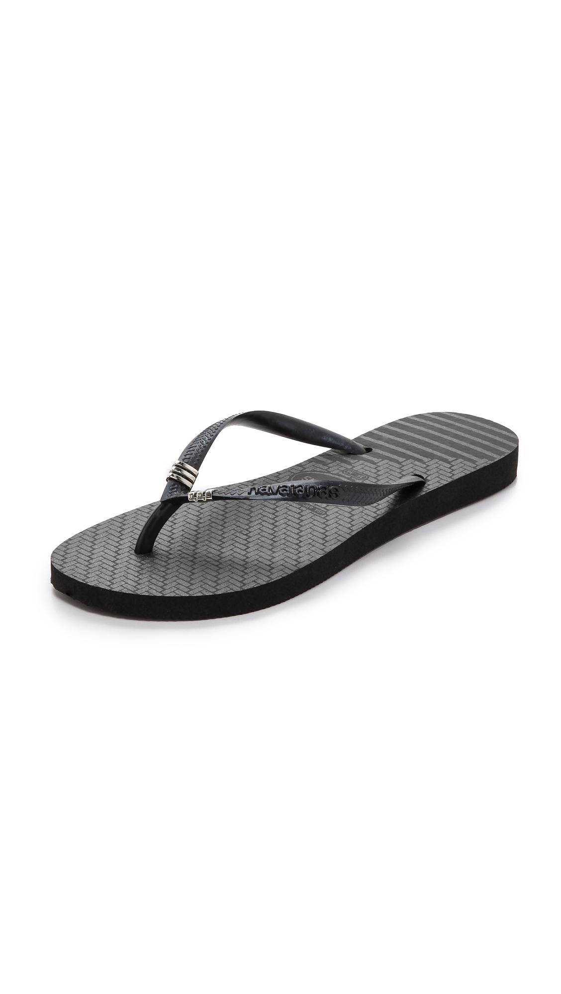 23de8872e Lyst - Havaianas Slim Tribal Flip Flops - Black in Black