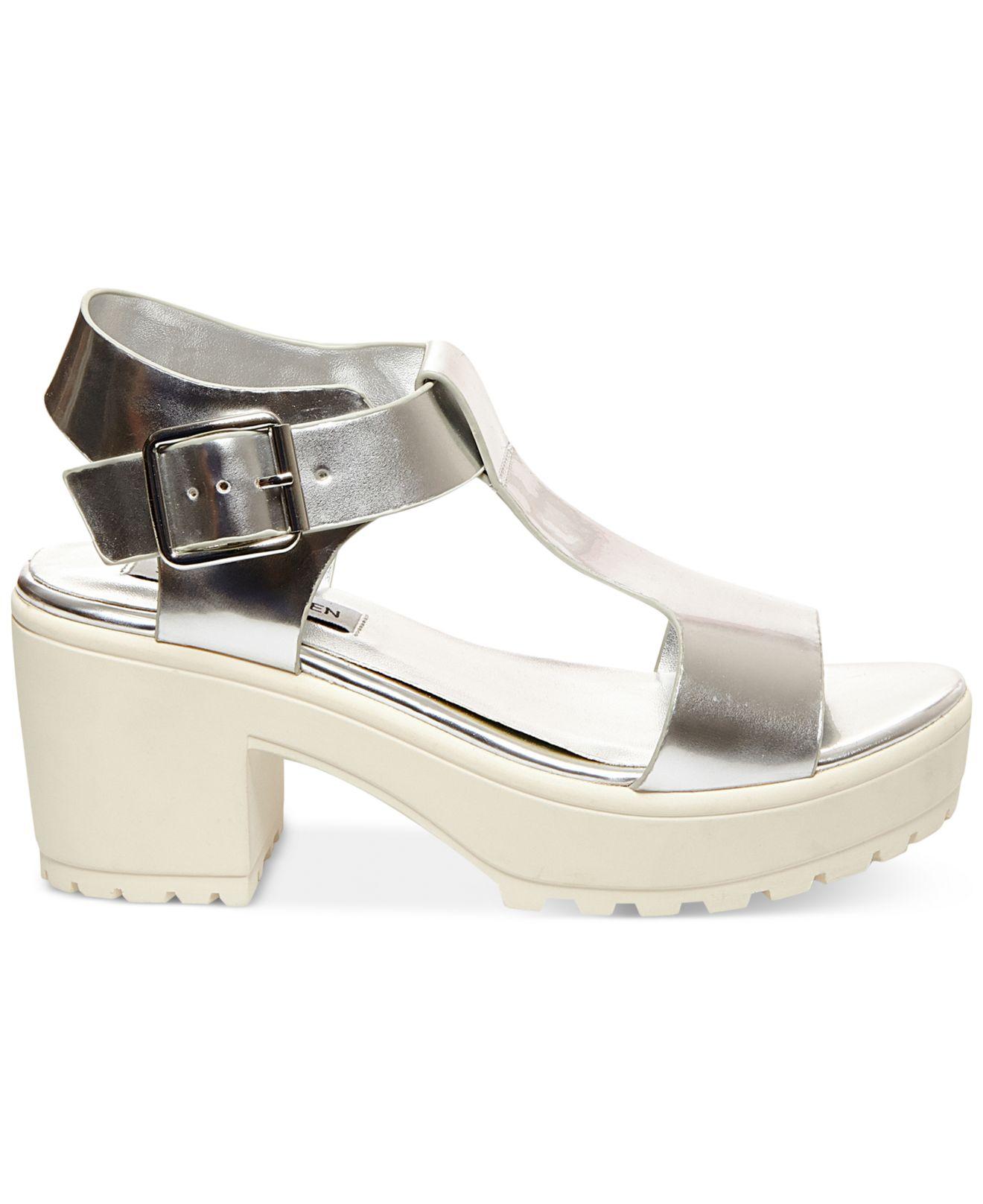 812d24ede83 Lyst - Steve Madden Women S Stefano Block Heel Platform Sandals in ...