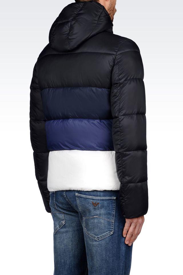 c84338fd35 Armani Black Coat In Jeans Down Lyst Men For RwCdqaa