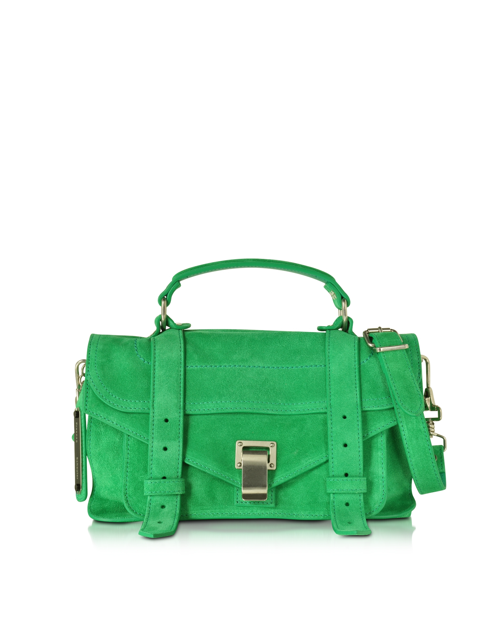 Proenza schouler Ps1 Tiny Aloe Suede Satchel Bag in Green | Lyst