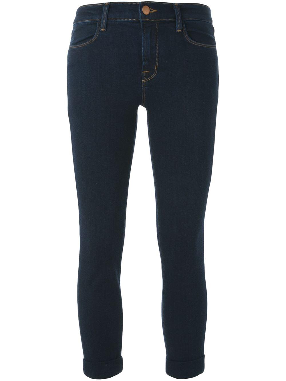 j brand 39 620 39 super skinny jeans in blue lyst. Black Bedroom Furniture Sets. Home Design Ideas