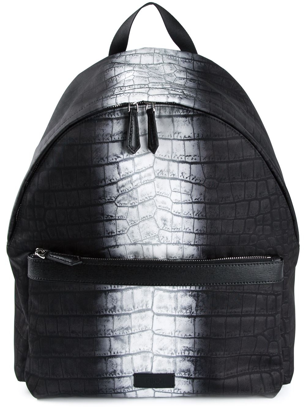 4498c7121d18 Lyst - Fendi  Code  Backpack in Black for Men