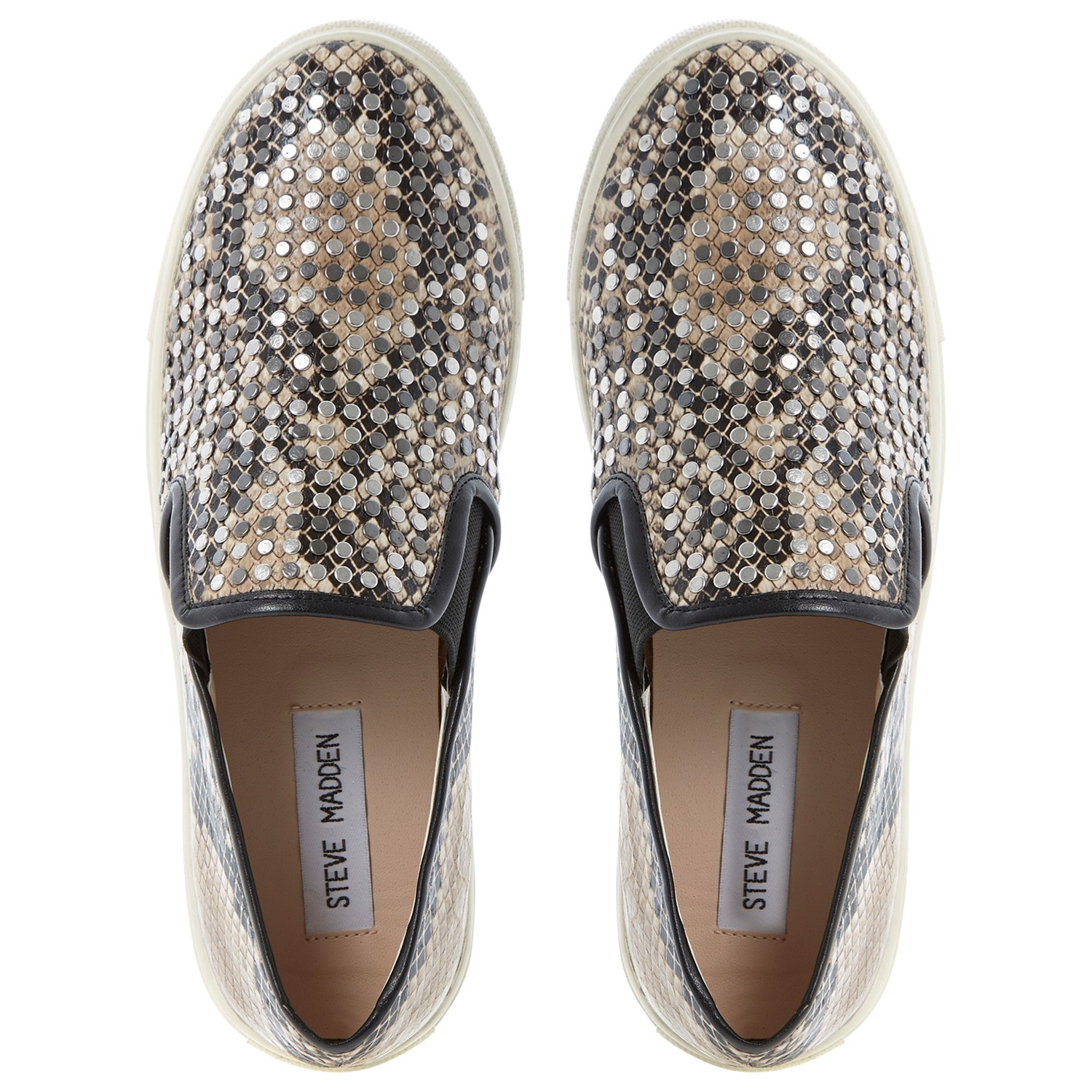 Steve Madden Denim Eros Slip-On Skate Shoes - For Women in Beige (Natural)