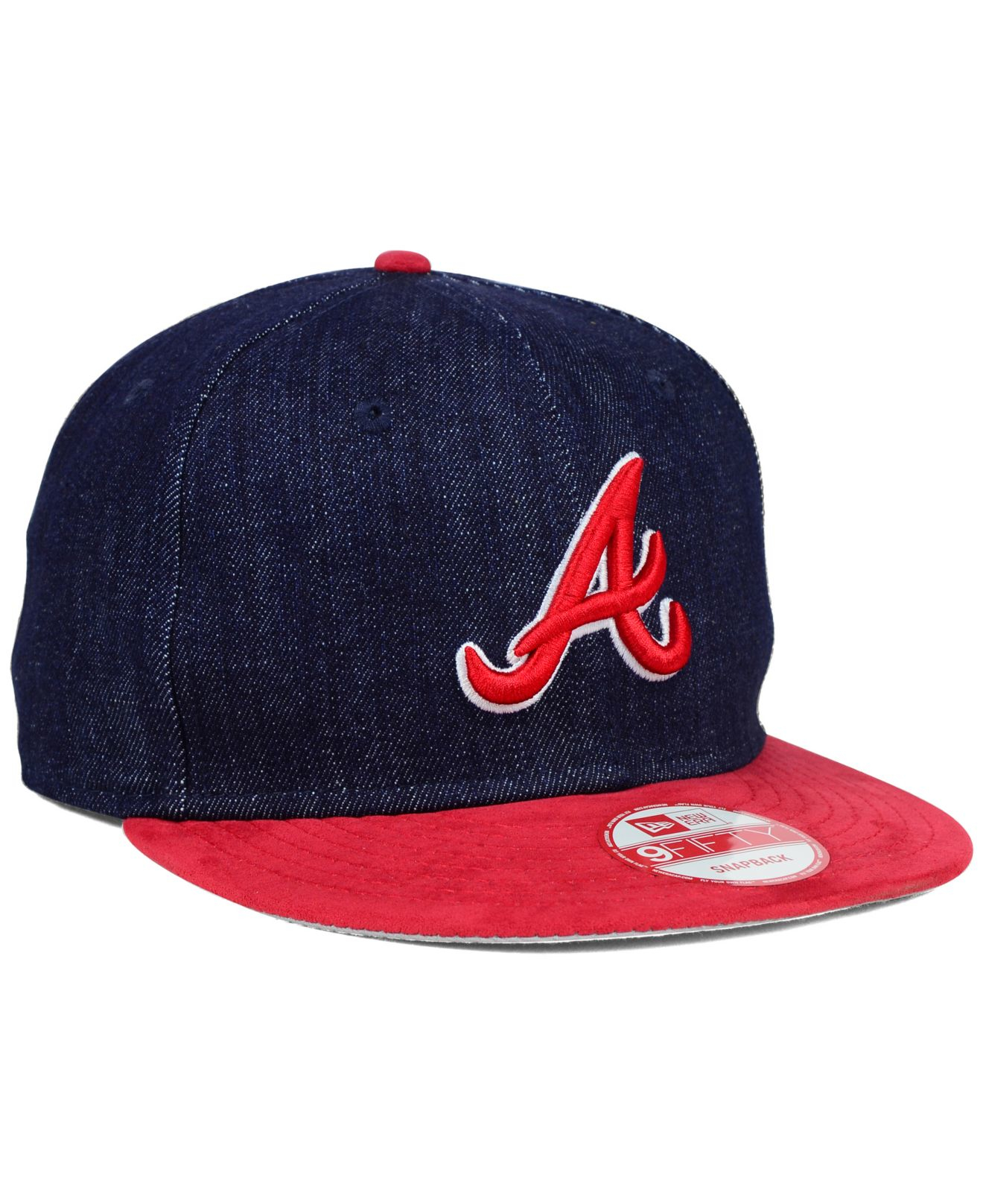 75ed689460539 mens mlb supervent cap 1 color available 35  lyst ktz atlanta braves denim  suede 9fifty snapback cap in blue