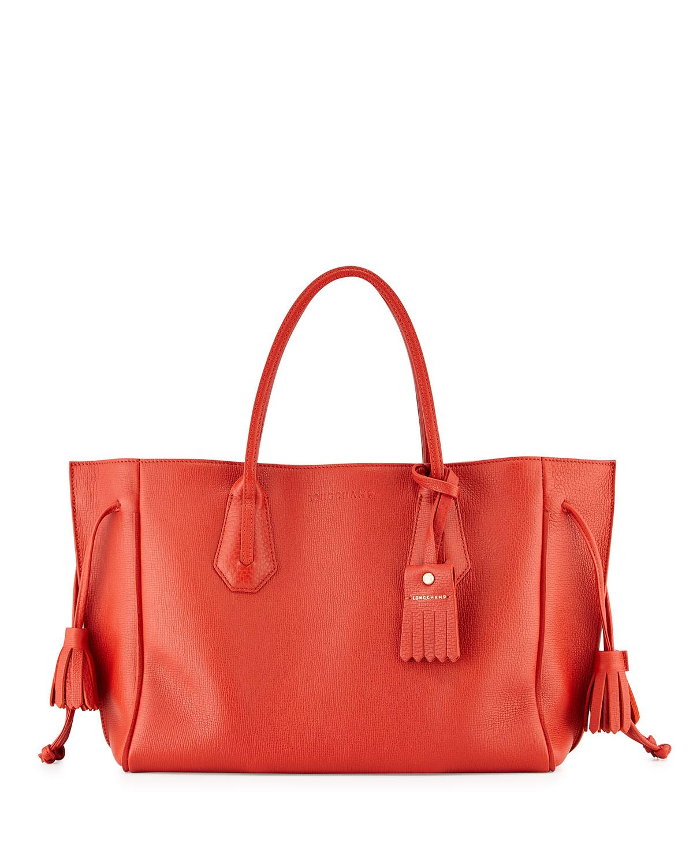 Longchamp Penelope Medium Tote Bag in Red | Lyst