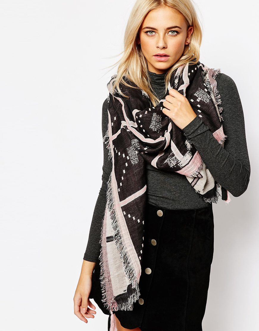 becks 246 ndergaard yao oversized scarf in pink lyst