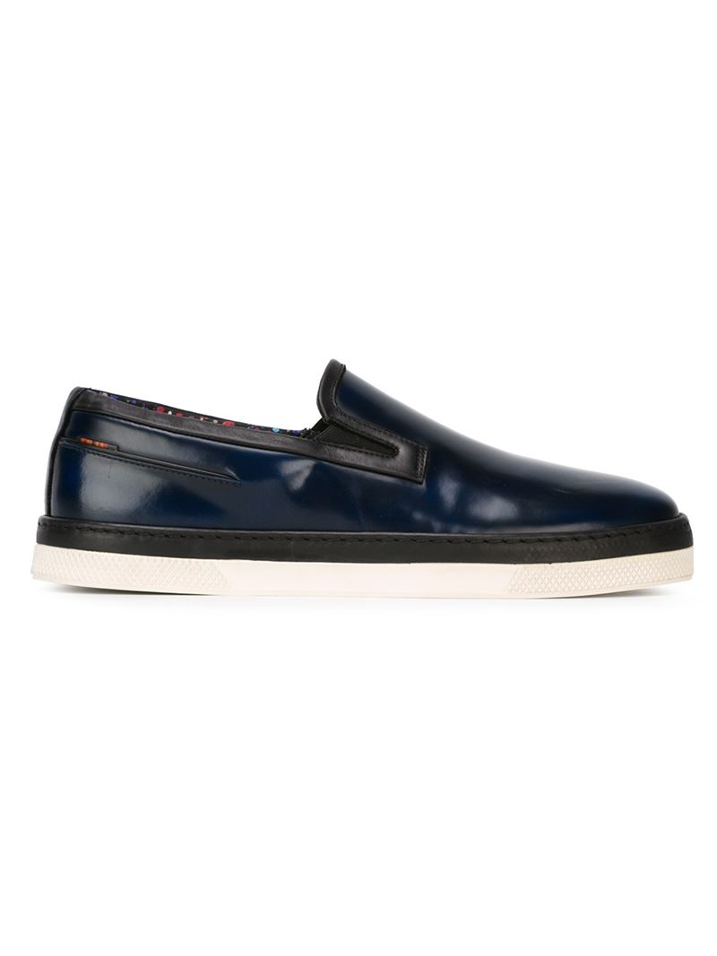 ps by paul smith casual loafers in blue for lyst