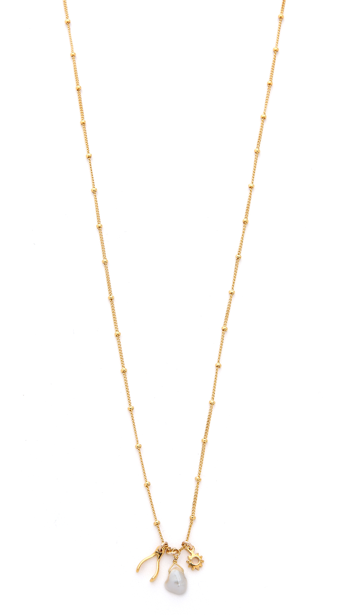 Lyst Chan Luu Cultured Freshwater Pearl Charm Necklace
