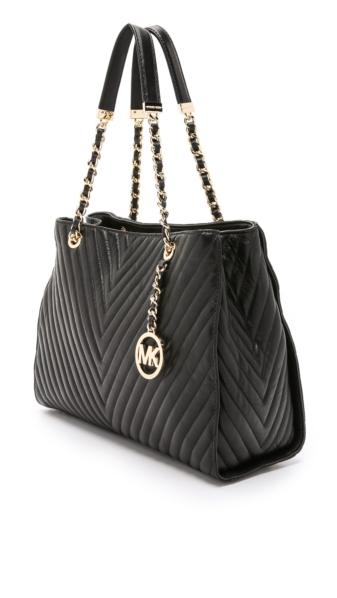 1aa1b73a34685c MICHAEL Michael Kors Susannah Quilted Large Tote - Black in Black - Lyst