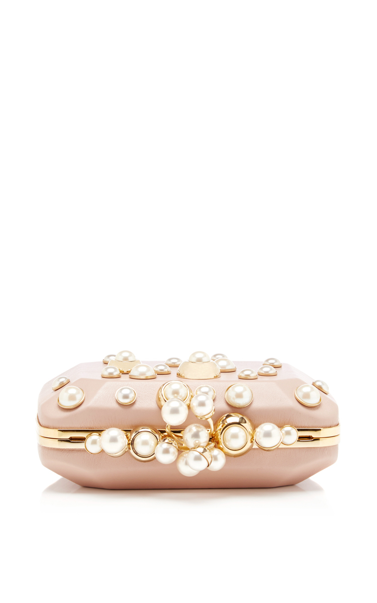 Lyst - Elie Saab Small Pearl Embellished Clutch in Pink