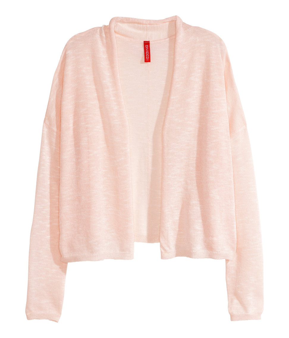 H&m Fine-Knit Cardigan in Pink | Lyst