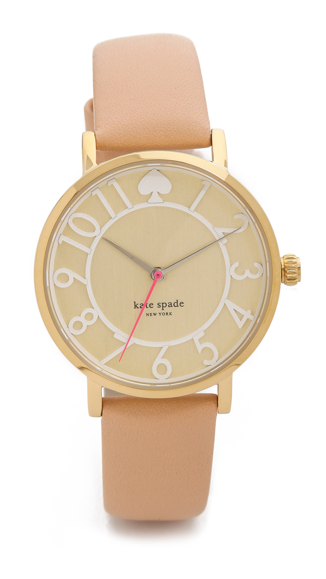 lyst kate spade new york metro two tone watch in natural