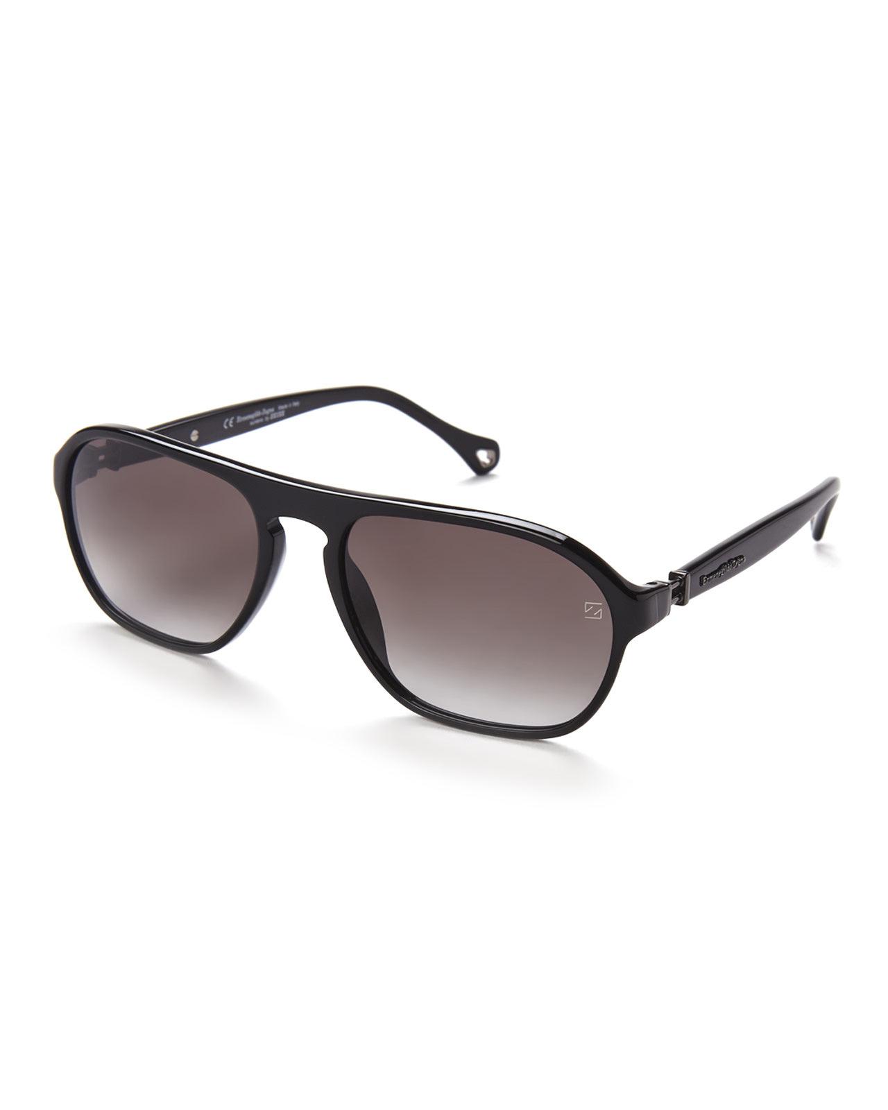 68e4cd5553e8 Ermenegildo Zegna Men s Polarized Aviator Sunglasses - Bitterroot ...